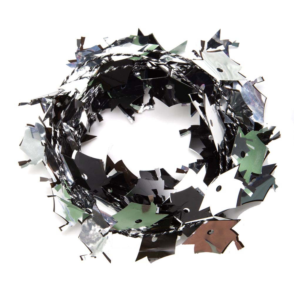 Party Deco 34721 12 ft.  Black and Silver Grad Caps Wire Garland - Pack of 13