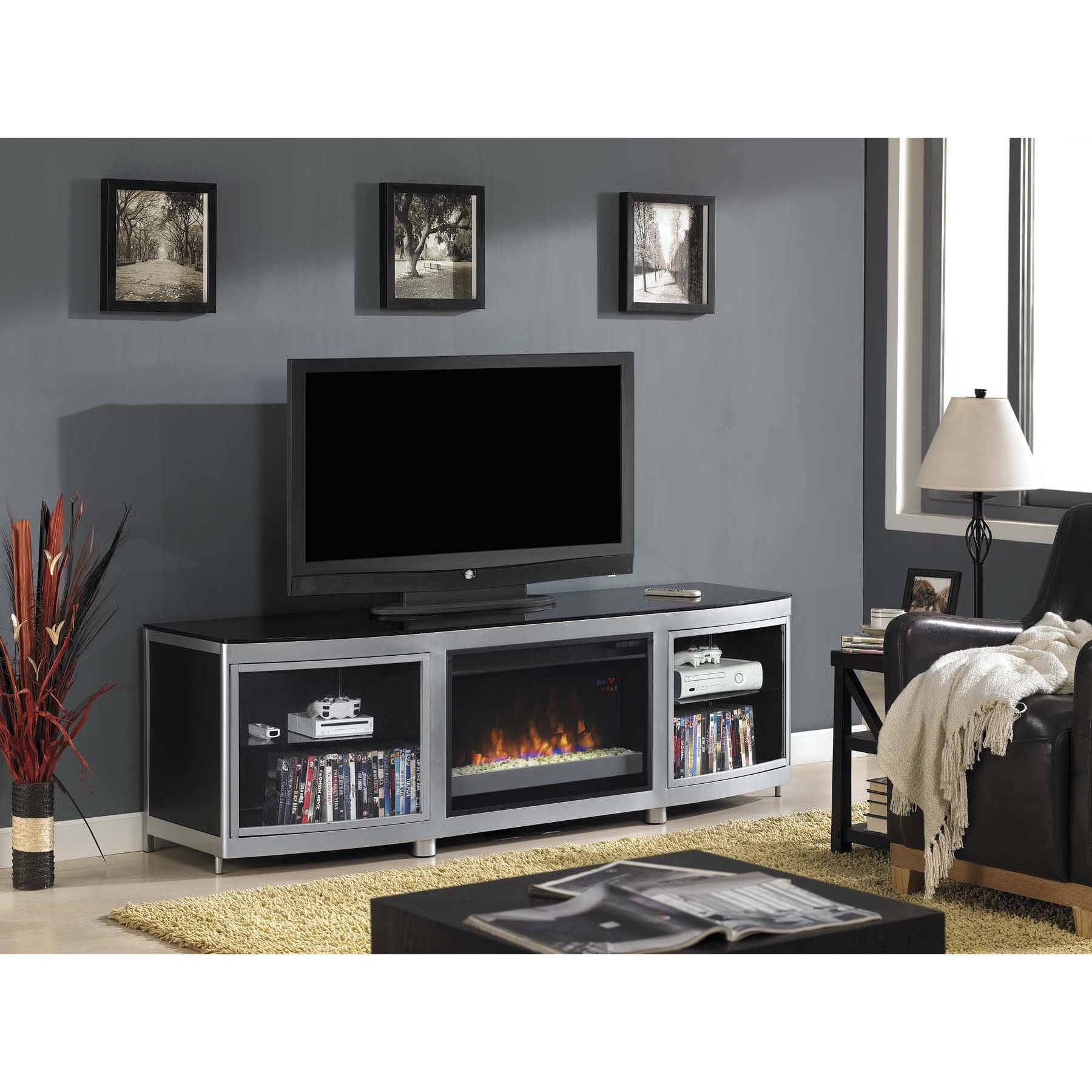 Twin Star Int Gotham Tv Stand For Tvs Up To 80 Inch With 26 Inch