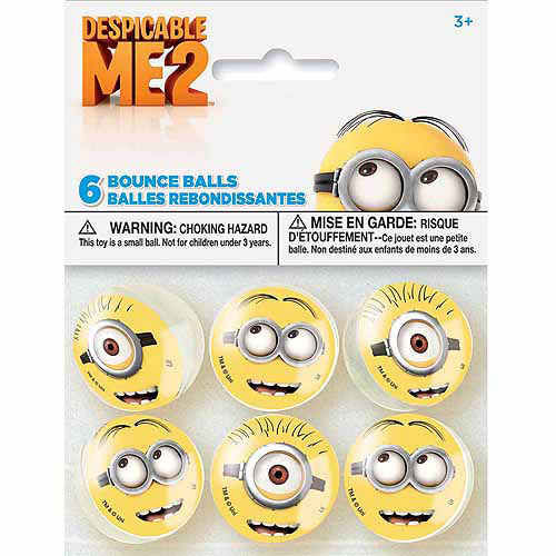 Despicable Me Bouncy Ball Party Favors, 6ct