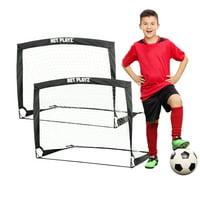 Net Playz 4' x 3' Pop-Up Soccer Goal (Set of 2)