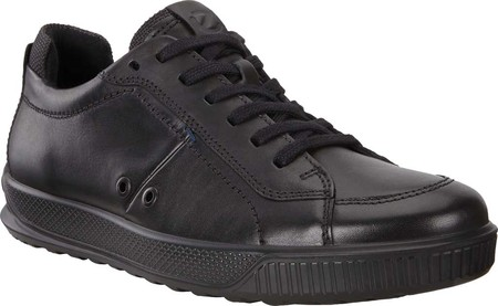 Ecco Men/'s Byway Comfort Leather Lace-Up Sneakers Black Size 46 NIB