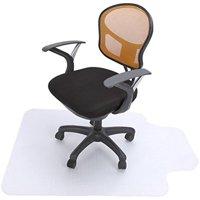 "Vinyl PVC Plastic Chair Mat,48""x 36"" Carpet floor Protection Chair Cushion Chairmats for All Pile Carpet Floor Office with Lip"