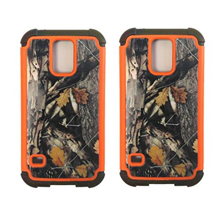 Set of 2 Black Duck Brand Samsung S V Camo Cell Phone Cases with Double Layer Protection ()