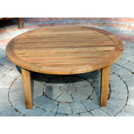 36 Natural Teak Round Outdoor Patio Wooden Coffee Table