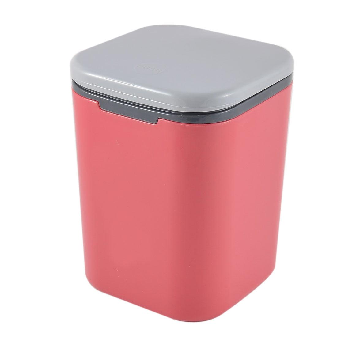 Push button Desktop Storage Trash Can Dustbin Waste Container 135