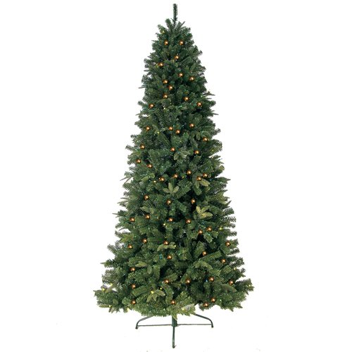 Jolly Workshop 6' Green Eastwood Fir Slim Artificial Christmas Tree with 400 Clear Lights and Metal Stand