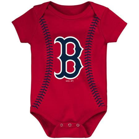Glass Boston Red Sox Clock (Boston Red Sox Newborn & Infant Alternate Color Running Home Bodysuit -)