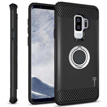 superior quality 0dc48 2a602 CoverON Samsung Galaxy S9 Plus Case with Ring Holder, RingCase Series  Hybrid Protective Dua Layer Phone Cover