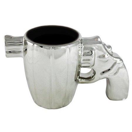 Forum Novelties Chrome Gun Coffee Mug ()
