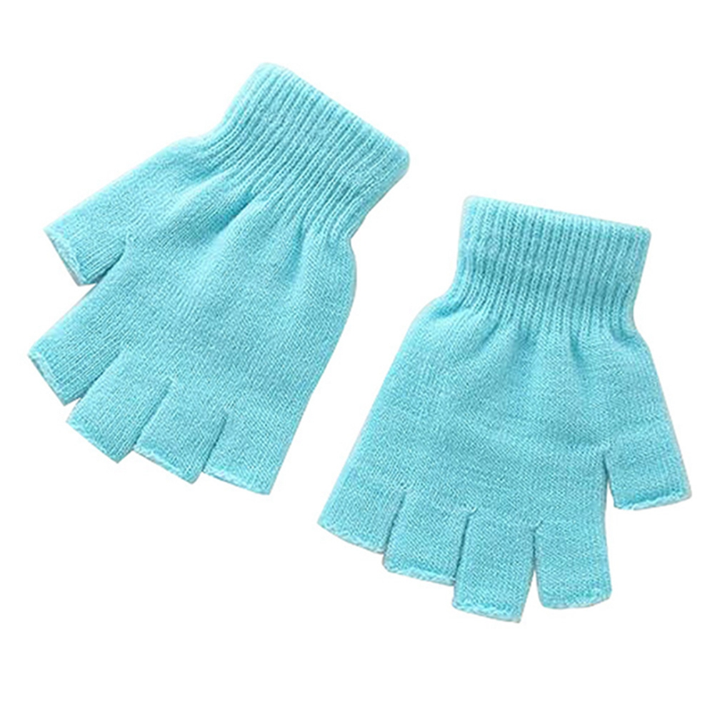 Unisex Plain Basic Fingerless Winter Gloves