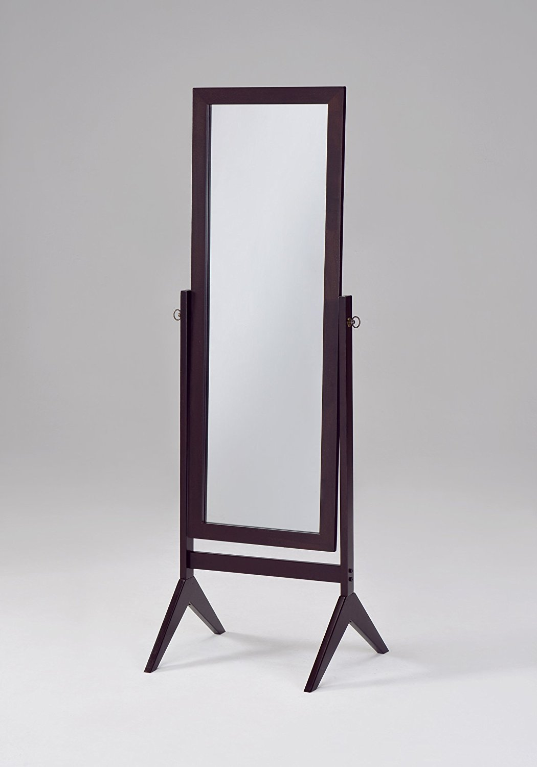 Floor Length Mirror, Espresso Bedroom Tall Standing Frame Wooden Cheval Mirror by eHomeProducts