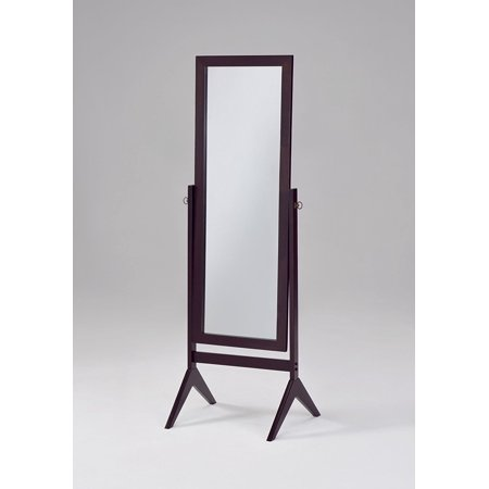 Floor Length Mirror, Espresso Bedroom Tall Standing Frame Wooden ...