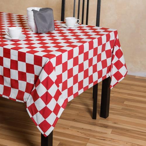 Linen Tablecloth Checker Board Rectangular Cotton Tablecloth by Linen Tablecloth