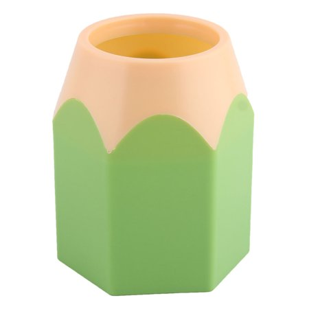 Plastic Desktop Pencil - Unique Bargains Home Office Plastic Desktop Decor Stationery Pencil Pen Holder Container Green
