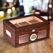 Best Humidors - Costway 50-100 Cigar Humidor Storage Box Desktop Glasstop Review