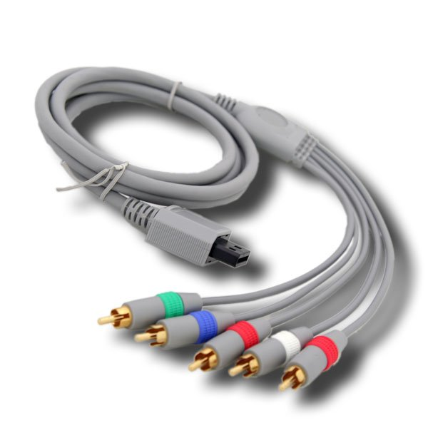 Fosmon Nintendo Wii & Wii U Component HD AV Cable to HDTV / LED TV (Support HD 480 x 2000) - 6FT