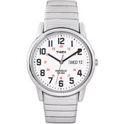 Timex Men's Easy Reader Day-Date 35mm Silver-Tone Stainless Steel Extra-Long Expansion Band Watch