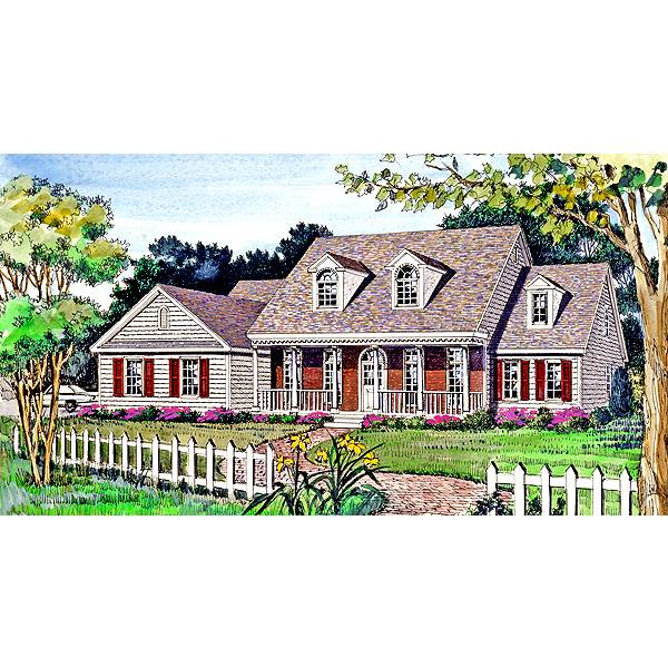 TheHouseDesigners-2799 Country House Plan with Crawl Space Foundation (5 Printed Sets)