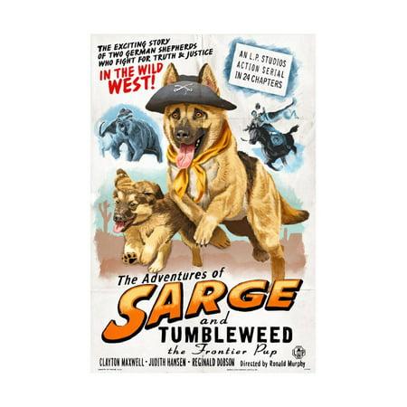 German Shepherd - Adventures of Sarge and Tumbleweed Print Wall Art By Lantern Press