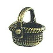 Dollhouse Antique Brass Basket/Oval