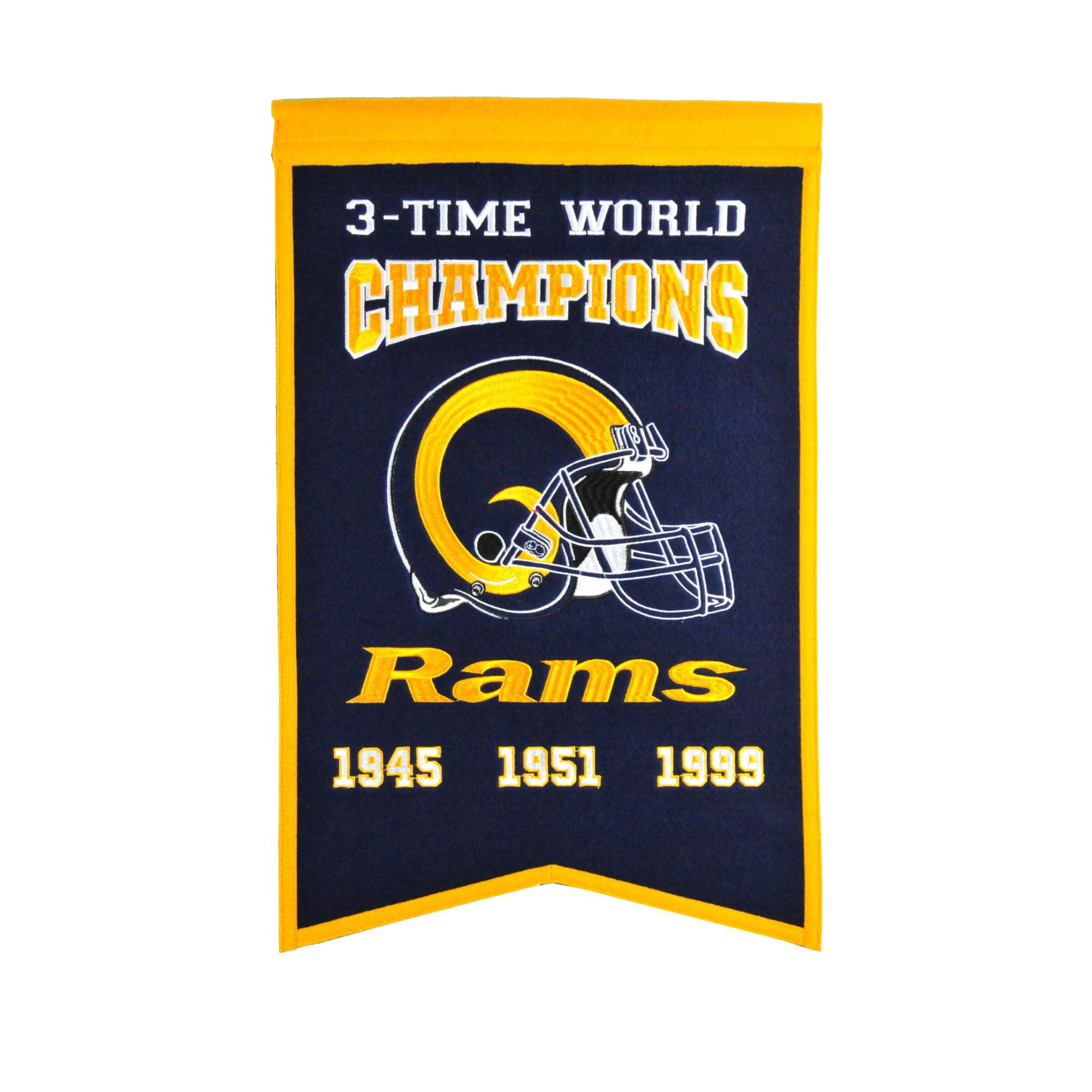 Winning Streak - NFL Champions Super Bowl Banner, Los Angeles Rams