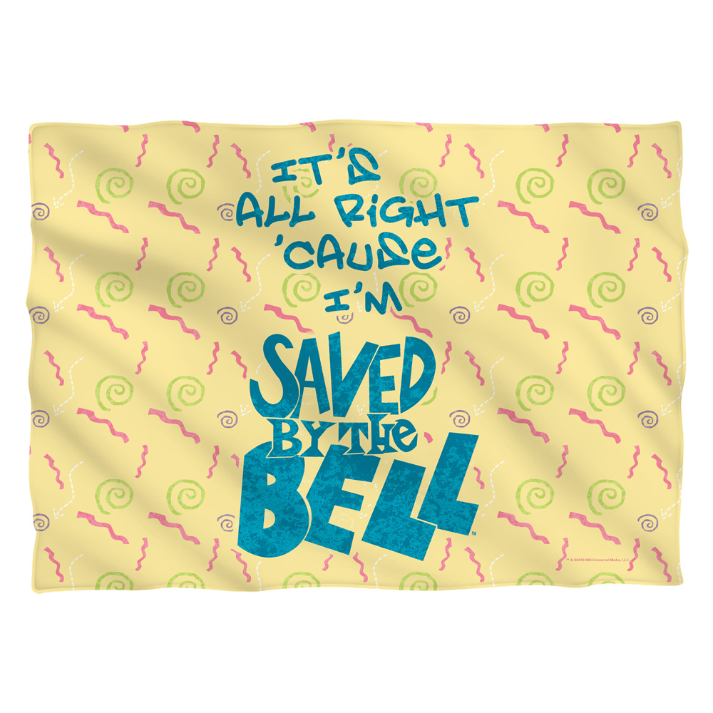 Saved By The Bell All Right Pillow Case White One Size
