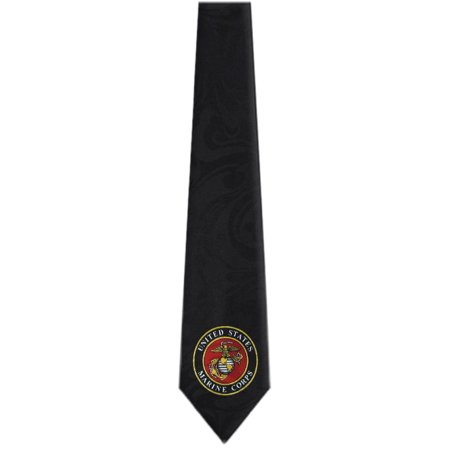 BuyYourTies - Mens Novelty US Marines Necktie  - Black Red Gold](Novelty Tie)