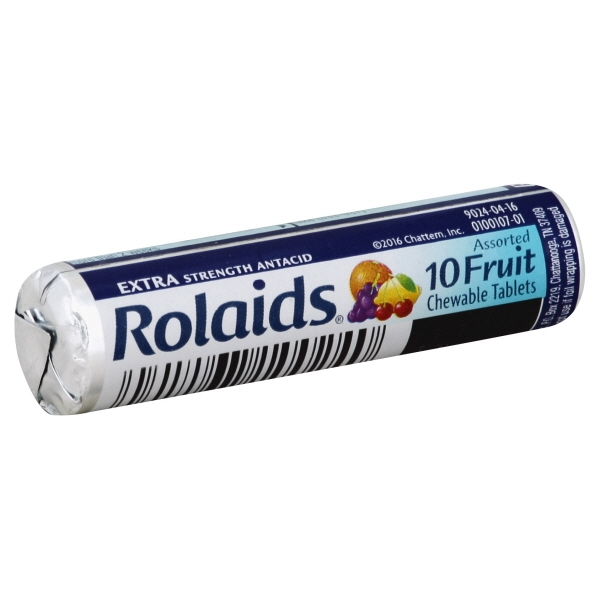 Rolaids Extra Strength Tablets, Fruit 10ct