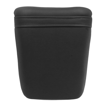 Black Faux Leather Motorcycle Pillion Cushion Passenger Rear  Pad for