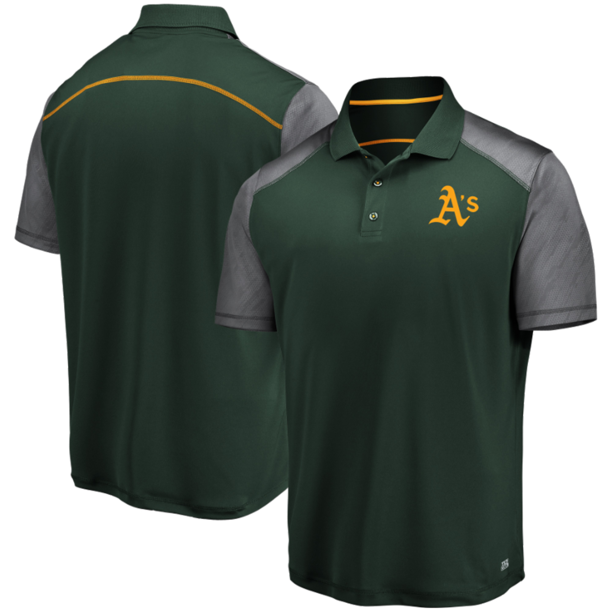 Men's Majestic Green Oakland Athletics Cool Base Polo by MAJESTIC LSG