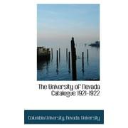 The University of Nevada Catalogue 1921-1922