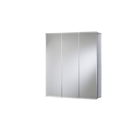 Croydex Loxley 26-Inch x 30-Inch Triple Door Tri-View Cabinet with Hang