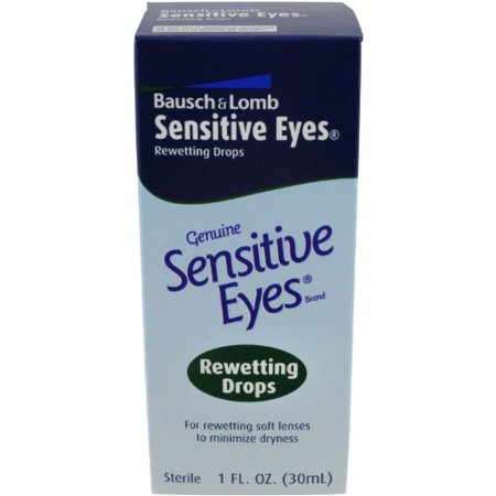 6 Pack - Bausch & Lomb Sensitive Eyes Rewetting Drops 1oz Each