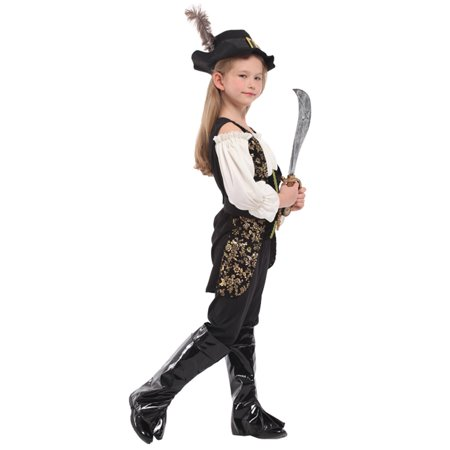 stylesilove Adorable Little Girls Halloween Costume Party Cosplay Dress (XL/10-12 Years, Pretty Swords Girl)