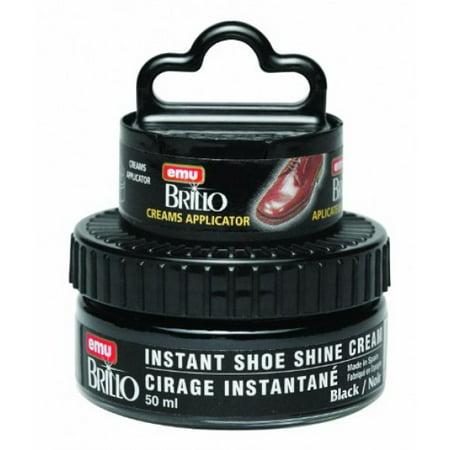 - moneysworth & best instant shoe shine cream kit with dauber, black, 50 ml