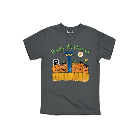 Pete The Cat Happy Halloween Toddler - Toddler Short Sleeve Tee - Short Halloween Poems For Toddlers