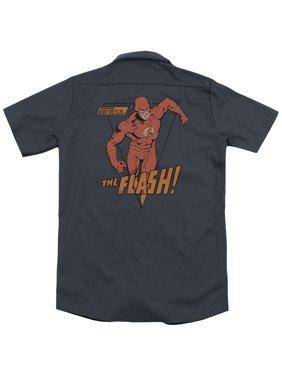 DC Comics Whirlwind (Back Print) Mens Work Shirt