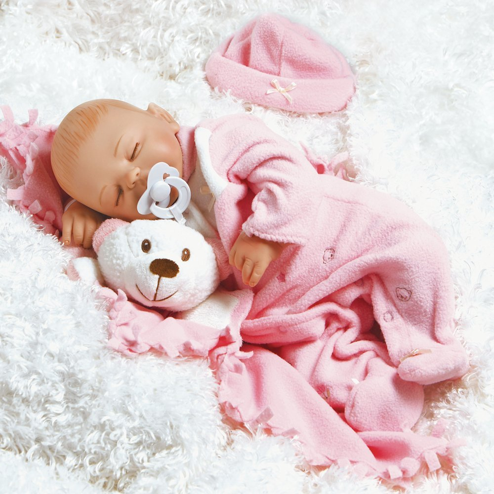 "Paradise Galleries Lifelike Realistic Soft Vinyl Weighted 16 inch Baby Girl  Doll Gift ""Baby Carly"" Great to Reborn"