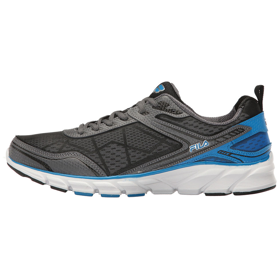 Fila Fila Mens Memory Granted Running Shoes 1SR21185 068 Pewter Electric Blue White Size 11