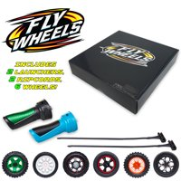 Fly Wheels Collector's Box Set Walmart Exclusive - Includes 2 Launcher Handles, 6 Battling Wheels and 2 Burst Ripcord, Up To 200 Scale MPH - The Most Extreme Toy Ever! For Ages 8+