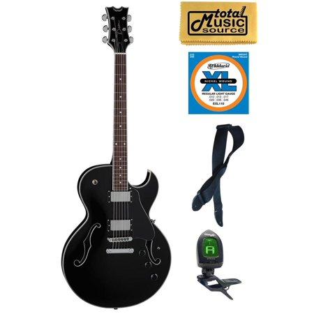 Series Semi Hollow Body (Dean Guitars Colt Semi-Hollow Body Electric Guitar, Classic Black , COLT CBK PACK  Bundle)