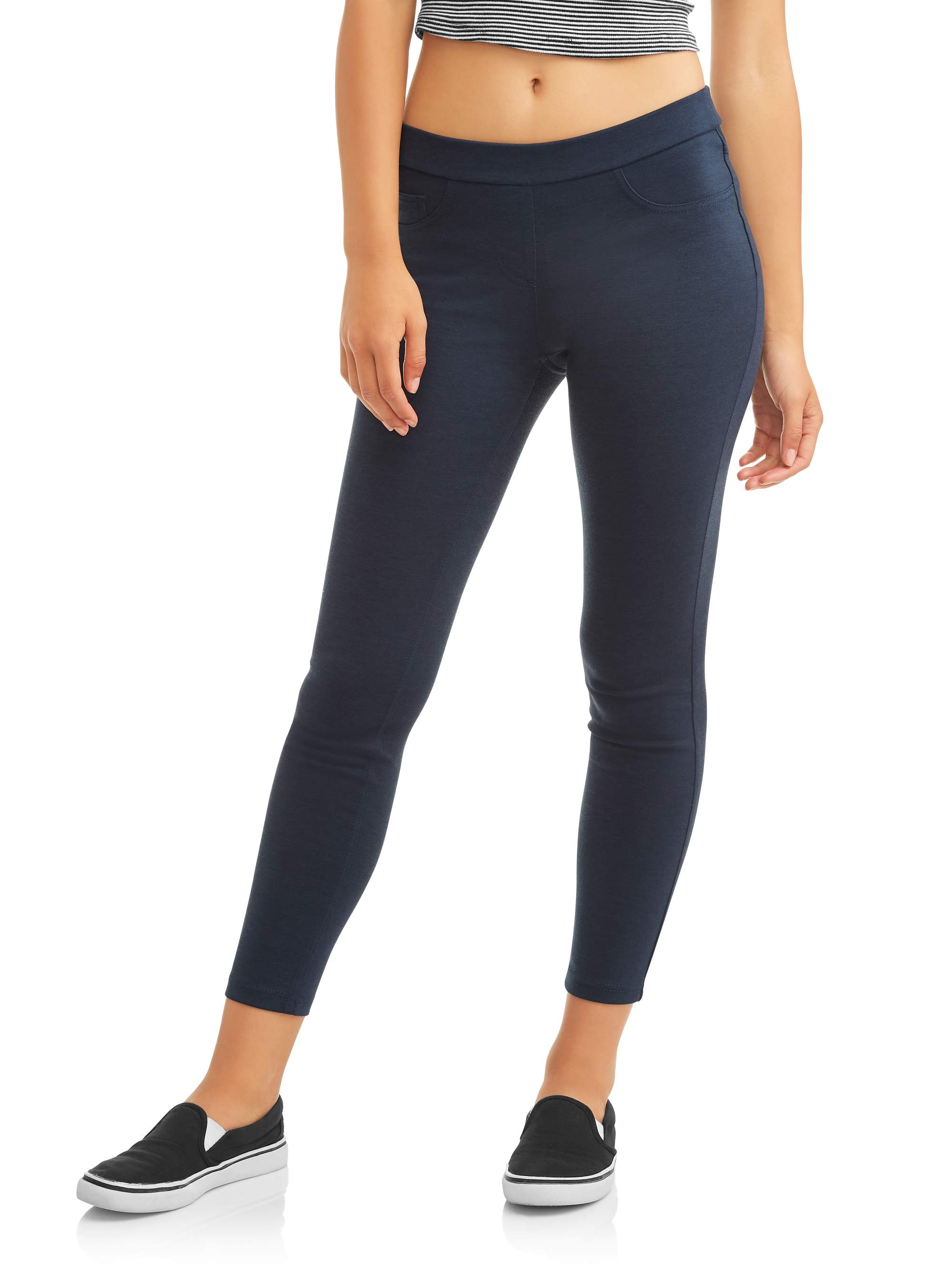 No Boundaries Juniors' Pull-On 5 Pocket Stretch Ponte Skinny Pants