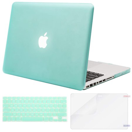 buy popular ddc1b 0e21e Mosiso 3 in 1 MacBook Pro 13 CD ROM A1278 Plastic Hard Case with Keyboard  Cover Only for Old MacBook Pro 13'' (Model A1278), Mint Green