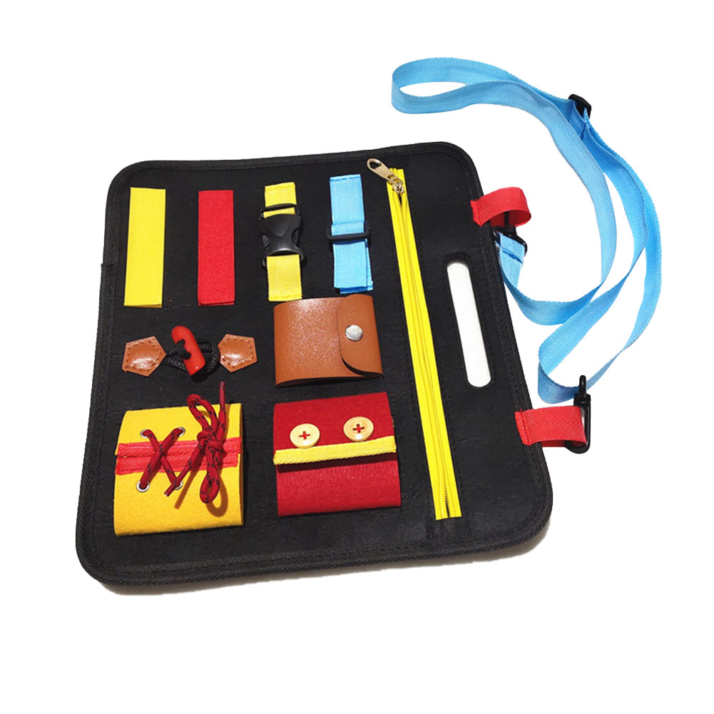 Smartey Childrens Toy Felt Board Toddlers Busy Preschool Toddlers Preschoolers Basic Skills Toy Drawing Board Learn to Change Clothes Buckle Learn Fine Motor Skills Learn to Dress and Spell