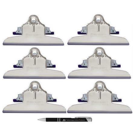 Mountable Clipboard clips by Saunders , Made in USA (6 each High Capacity) Includes Bonus AdvantageOP Retractable Pen for $<!---->