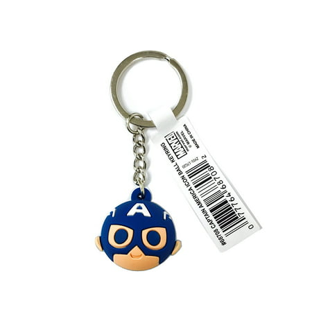 Key Chain - Marvel - Captain America - Icon Ball Key Ring New 68708 for $<!---->
