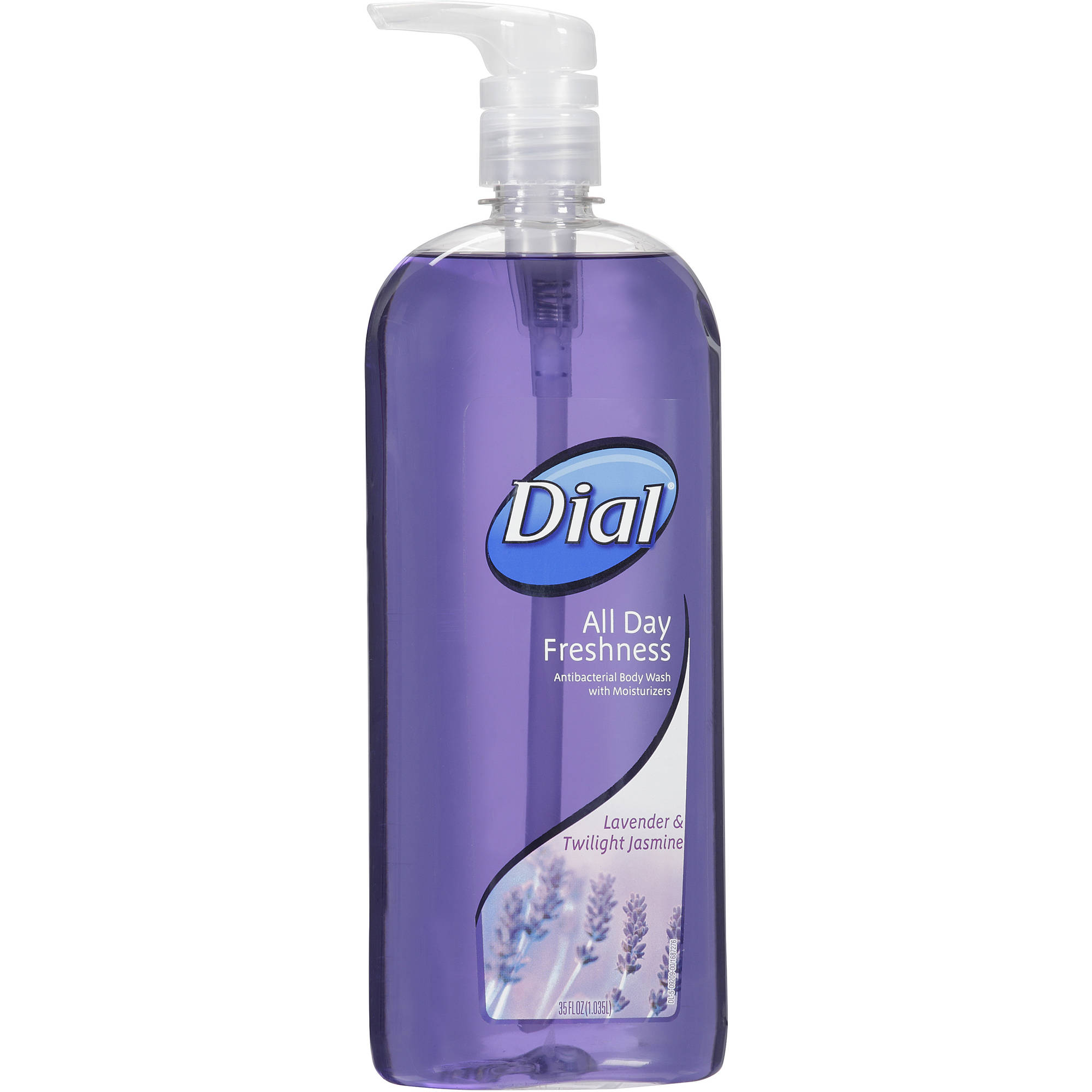 Dial All Day Freshness Lavender & Twilight Jasmine Antibacterial Body Wash with Moisturizers, 35 fl oz