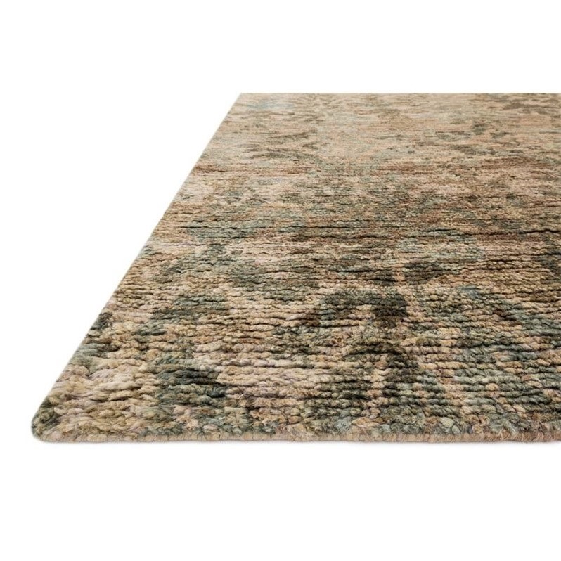 Loloi Xavier 5 6 Quot X 8 6 Quot Jute Rug In Natural And Blue