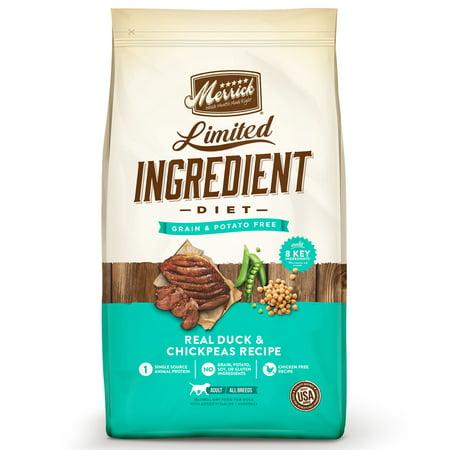 Merrick Limited Ingredient Diet Grain-Free Real Duck + Sweet Potato Recipe Dry Dog Food, 22 lb
