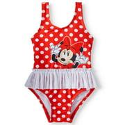 Minnie Mouse Baby Girl Polka Dot Tutu One-Piece Swimsuit